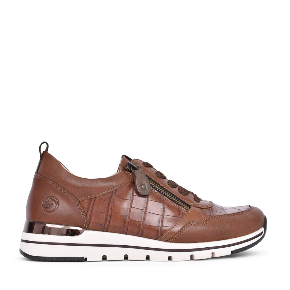 LADIES R6704 LACED SHOE in BROWN