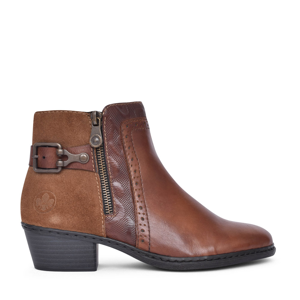 LADIES 75585 ANKLE BOOT in TAN