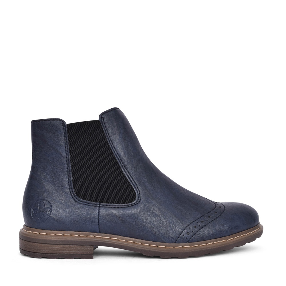 LADIES 71072 ANKLE BOOT in NAVY