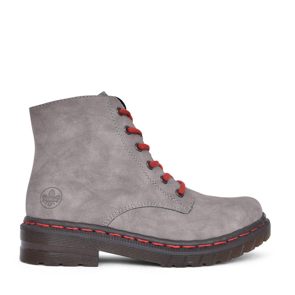 LADIES 76240 LACED ANKLE BOOT in GREY