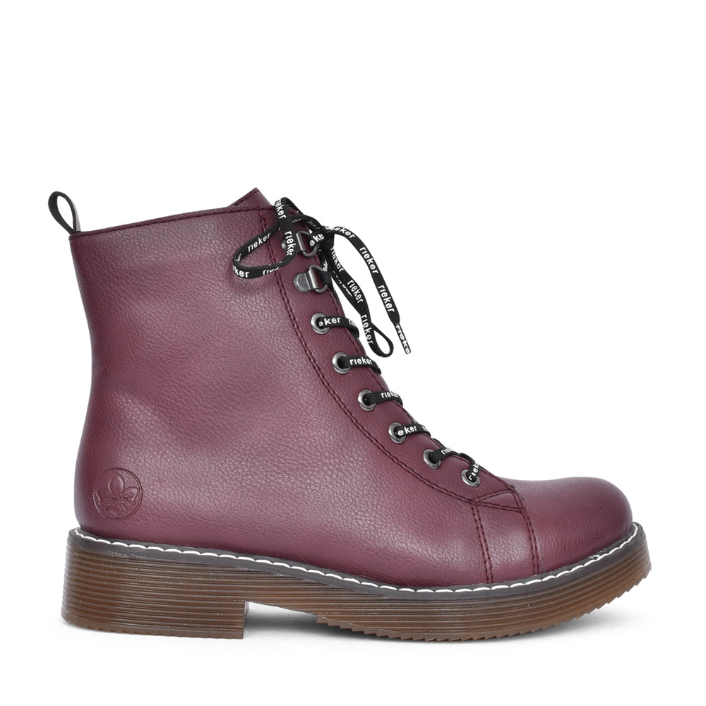 LADIES 70001 LACED BOOT in BURGANDY