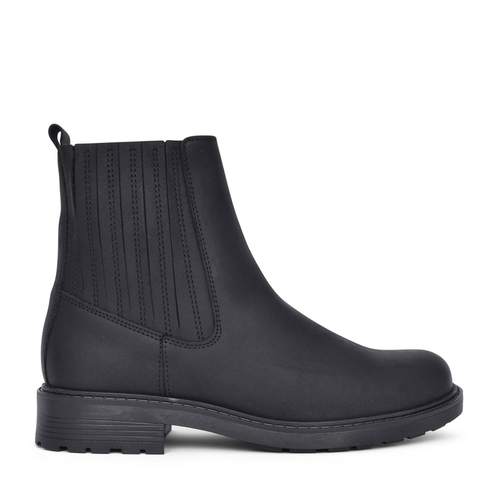 LADIES ORINOCO2 MID LEATHER D FIT ANKLE BOOT in BLK LEATHER