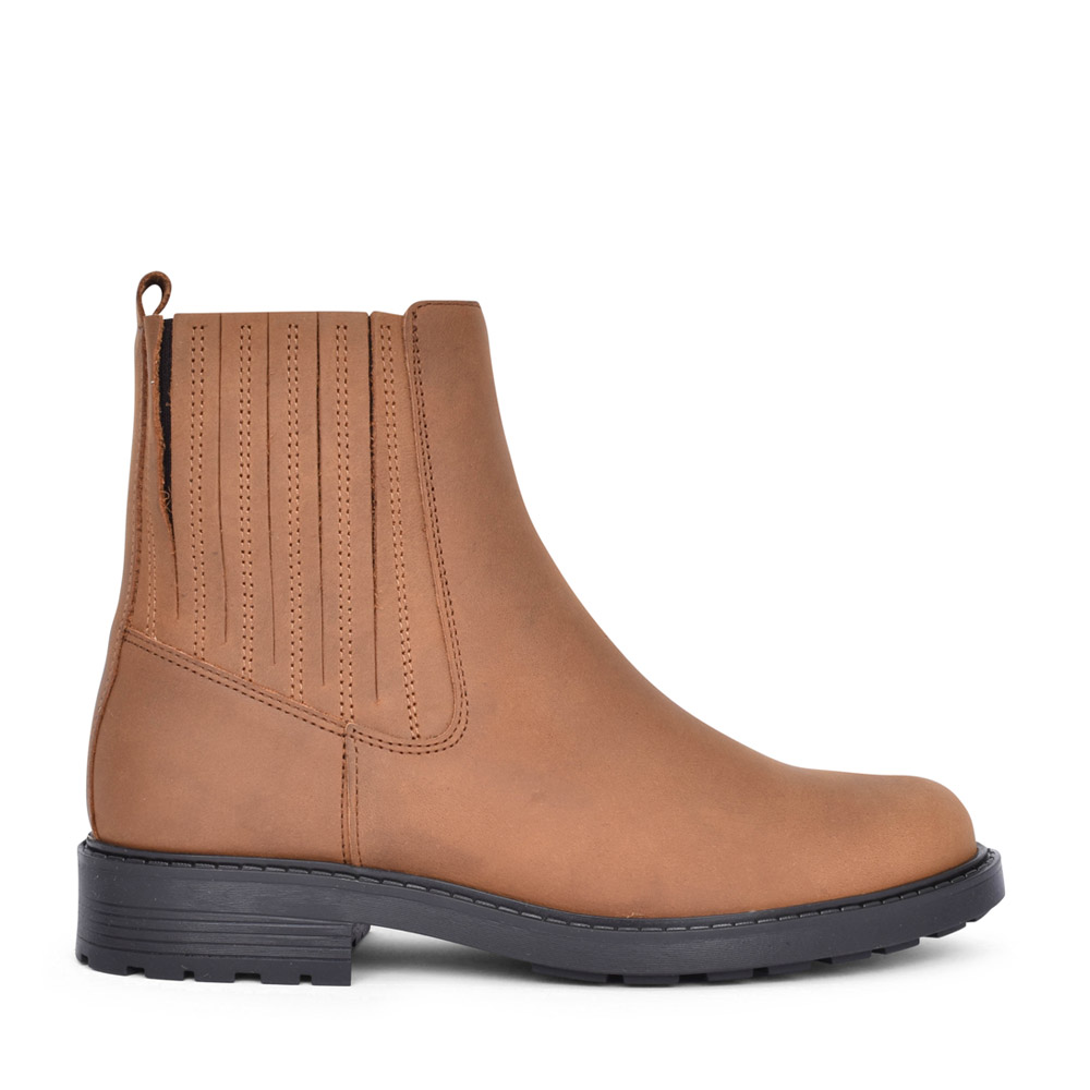 LADIES ORINOCO2 MID LEATHER D FIT ANKLE BOOT in BROWN