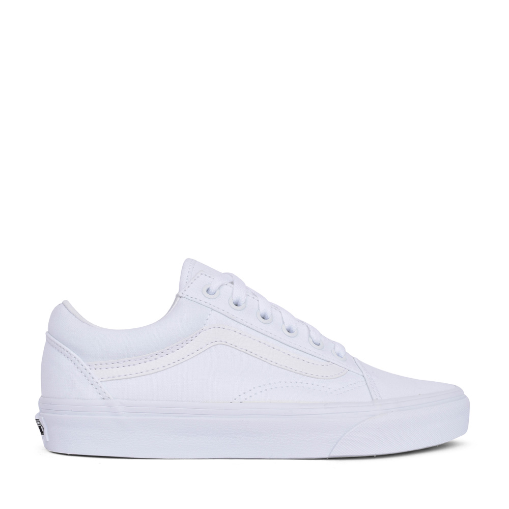 UNISEX OLD SKOOL LACED SHOE in WHITE
