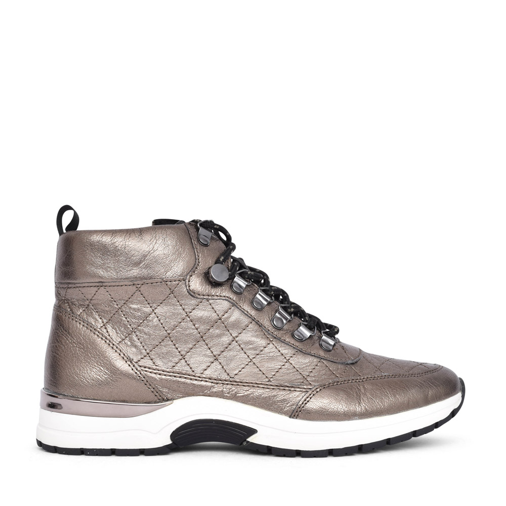 LADIES 9-25220 LACED BOOT in PEWTER