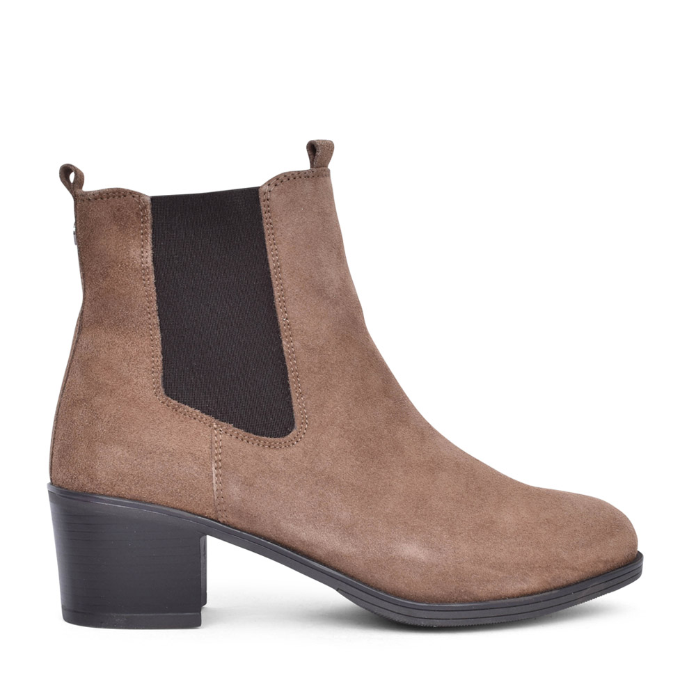 LADIES 9-25350 ANKLE BOOT in TAUPE