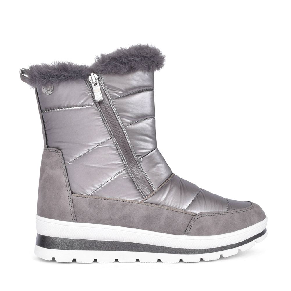 LADIES 9-26425 CALF BOOT in TAUPE