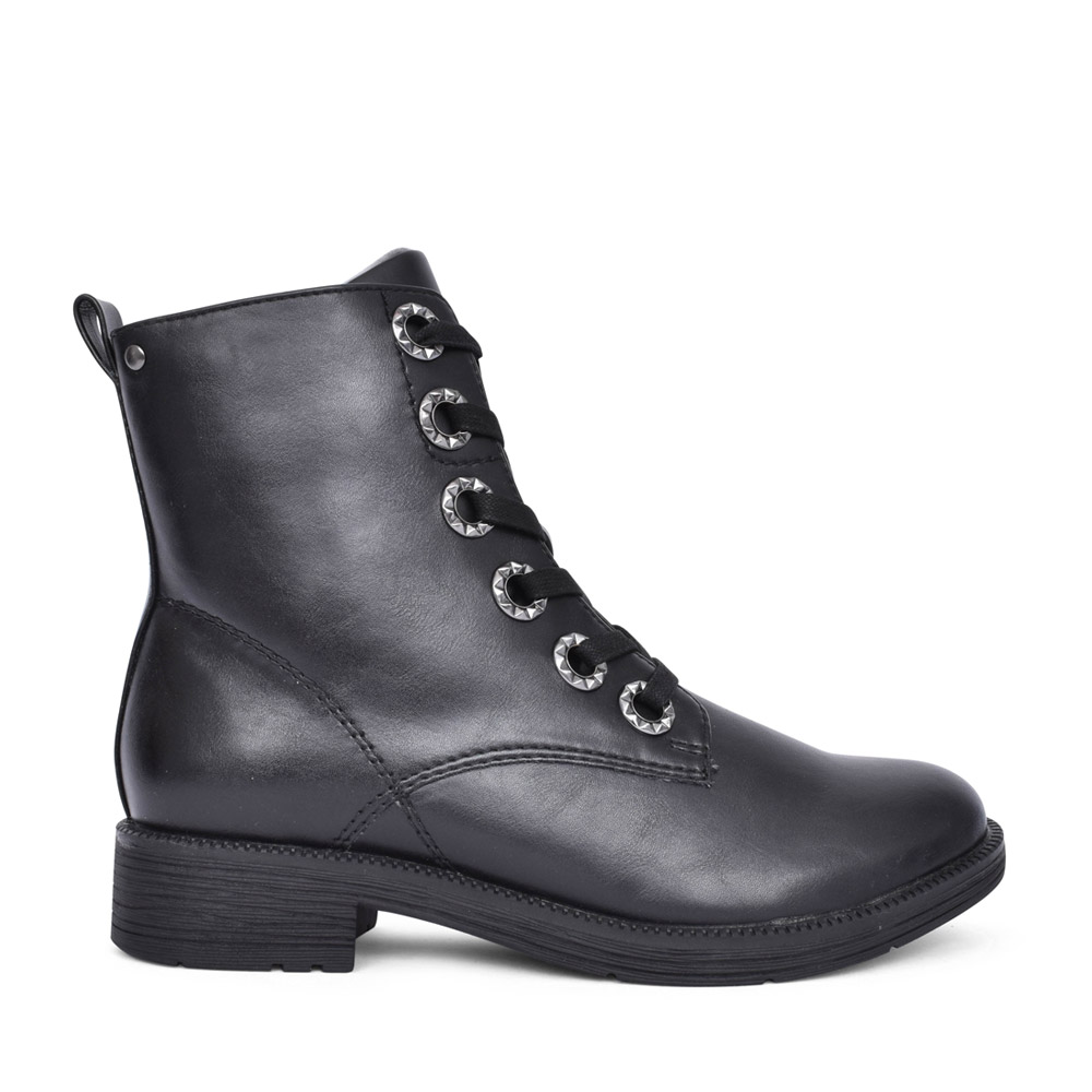 LADIES 8-25264 LACED BOOT in BLACK