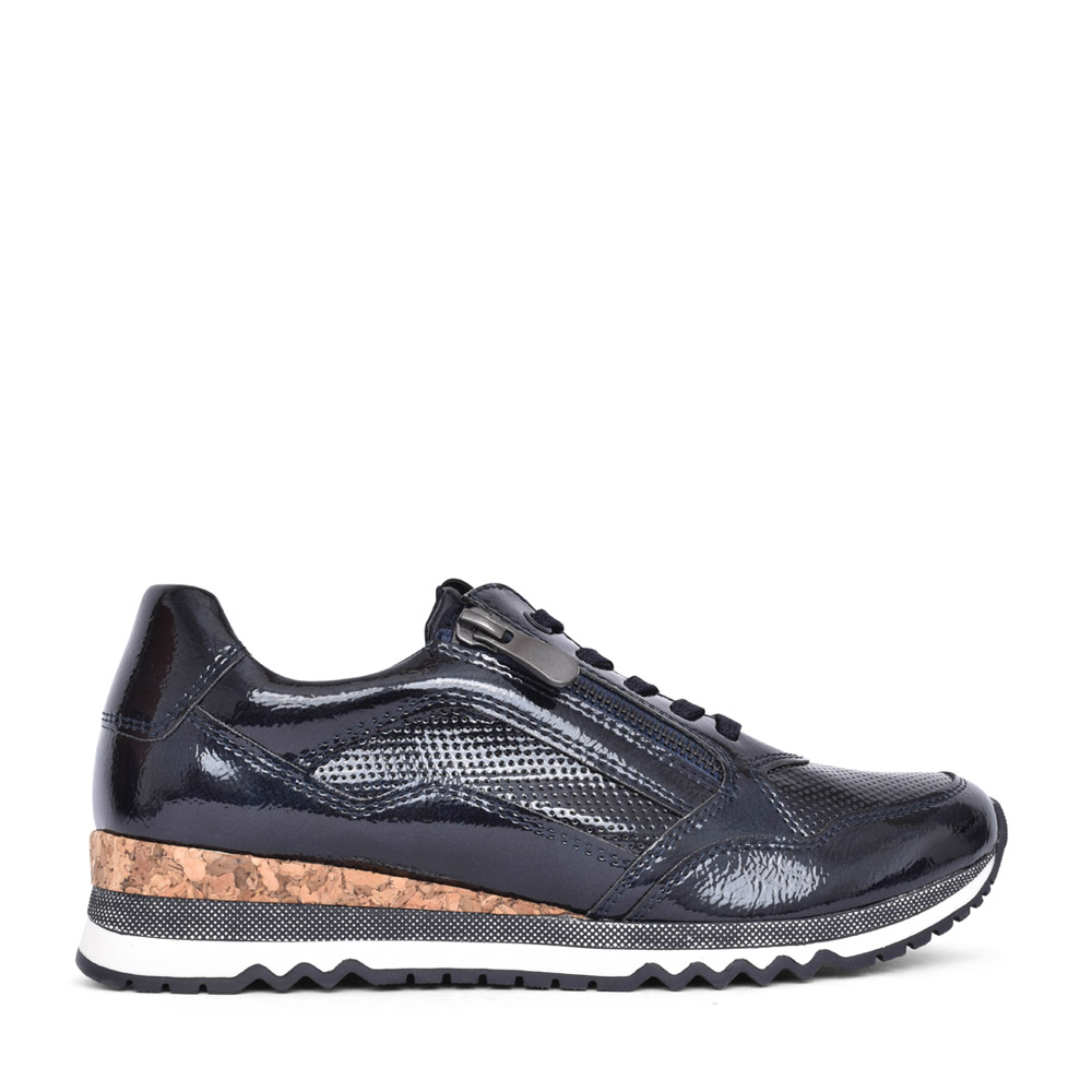 LADIES 2-23782 LACED TRAINER in NAVY