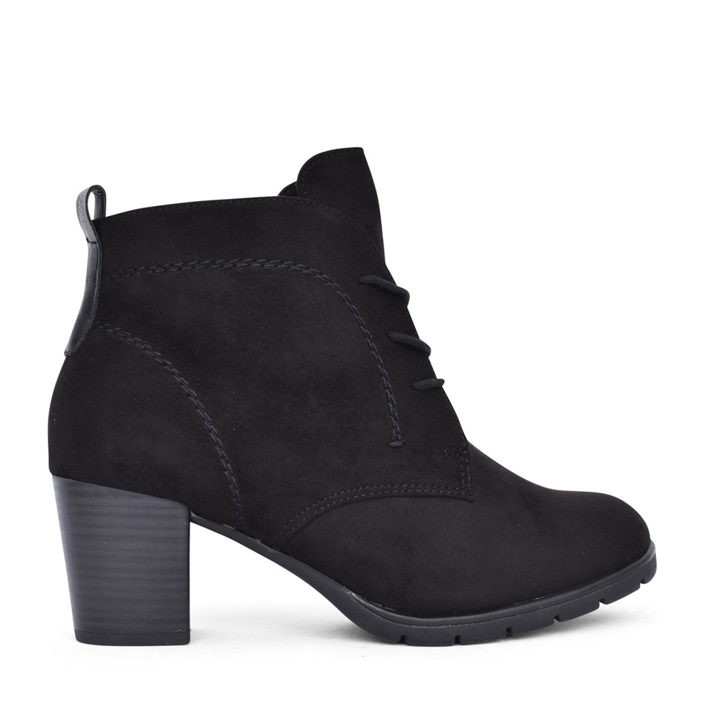 LADIES 2-25107 LACED BOOT in BLACK