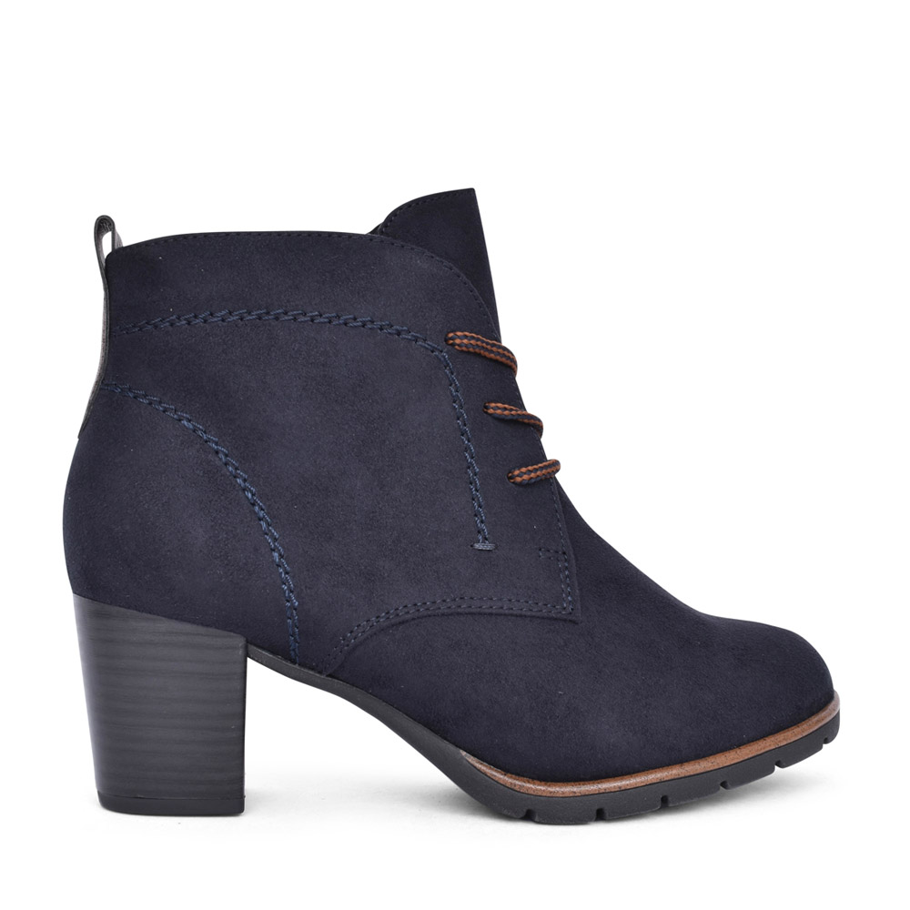 LADIES 2-25107 LACED BOOT in NAVY