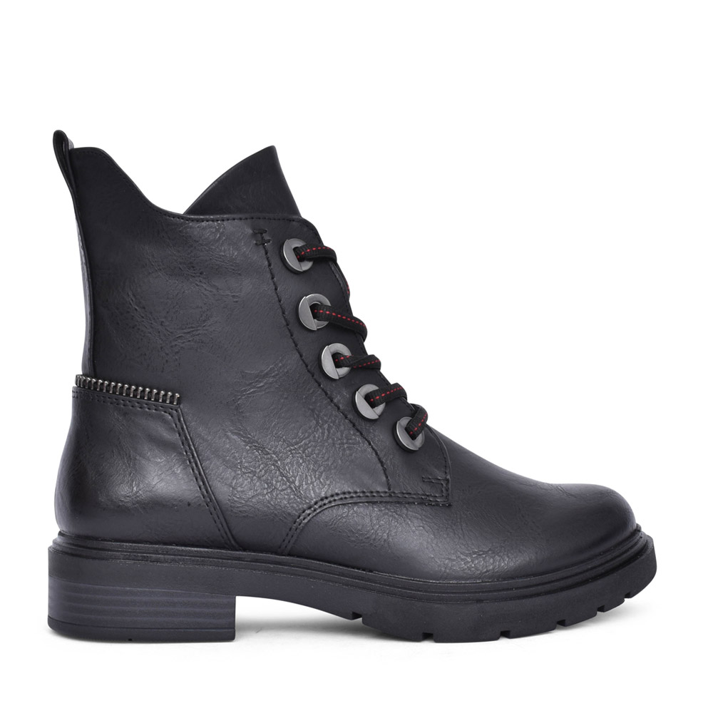 LADIES 2-25230 LACED BOOT in BLACK
