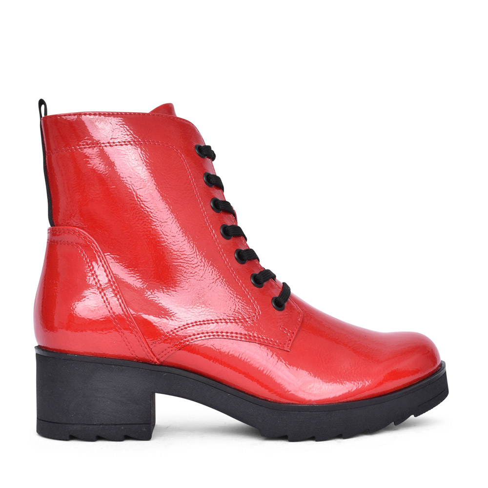 LADIES 2-25262 LACED BOOT in RED
