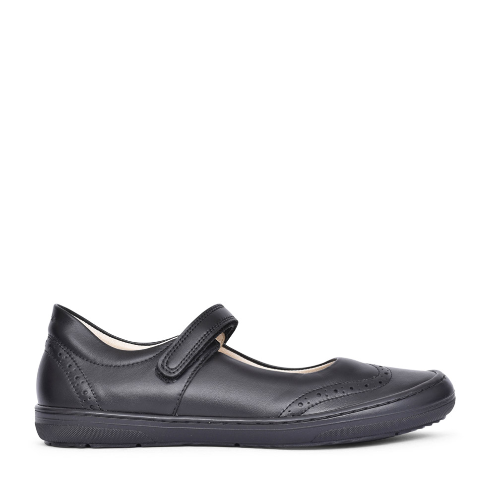 GIRLS G3140077 LEATHER SHOE in BLK LEATHER