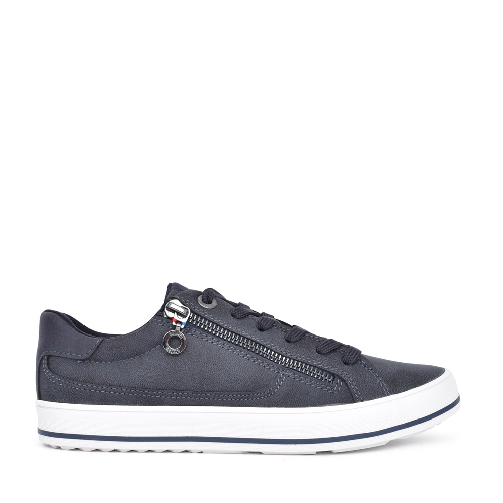 LADIES 5-23615 LACED TRAINER in NAVY