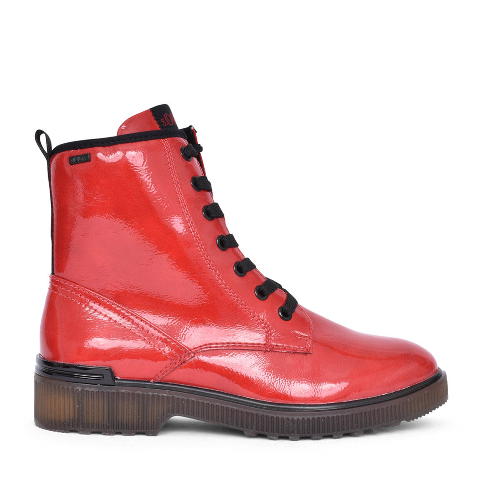 LADIES 5-25232 LACED BOOT in RED