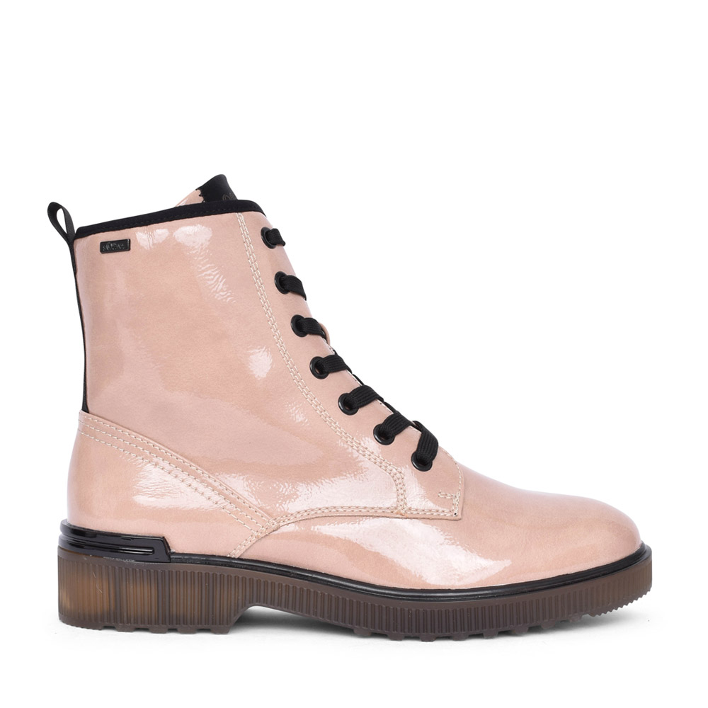 LADIES 5-25232 LACED BOOT in ROSE