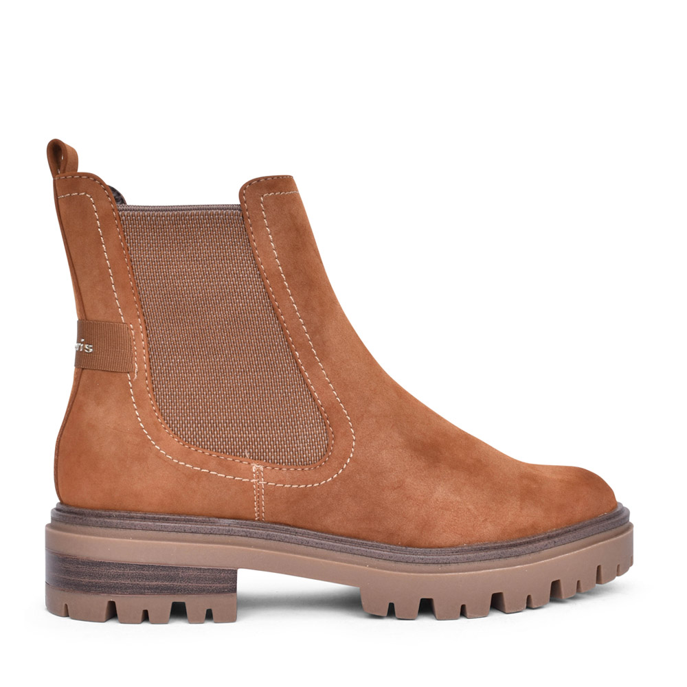 LADIES 1-25418 ANKLE BOOT in TAN