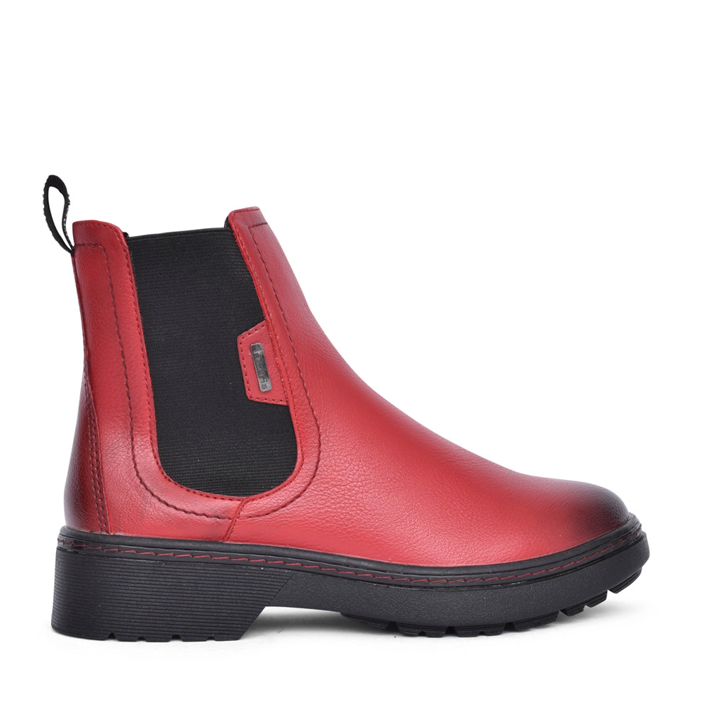 LADIES 1-25463 ANKLE BOOT in RED