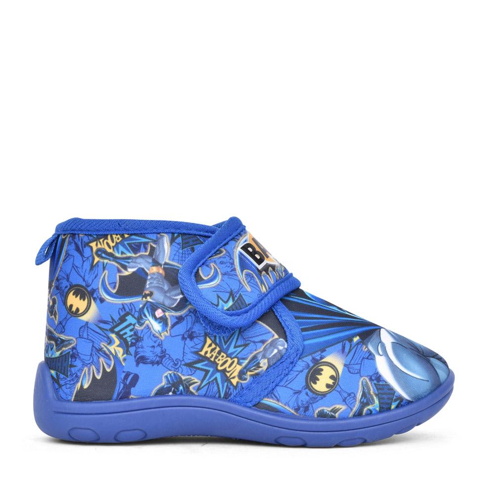 BOYS KCD019 BATMAN VELCRO SLIPPERS in BLUE