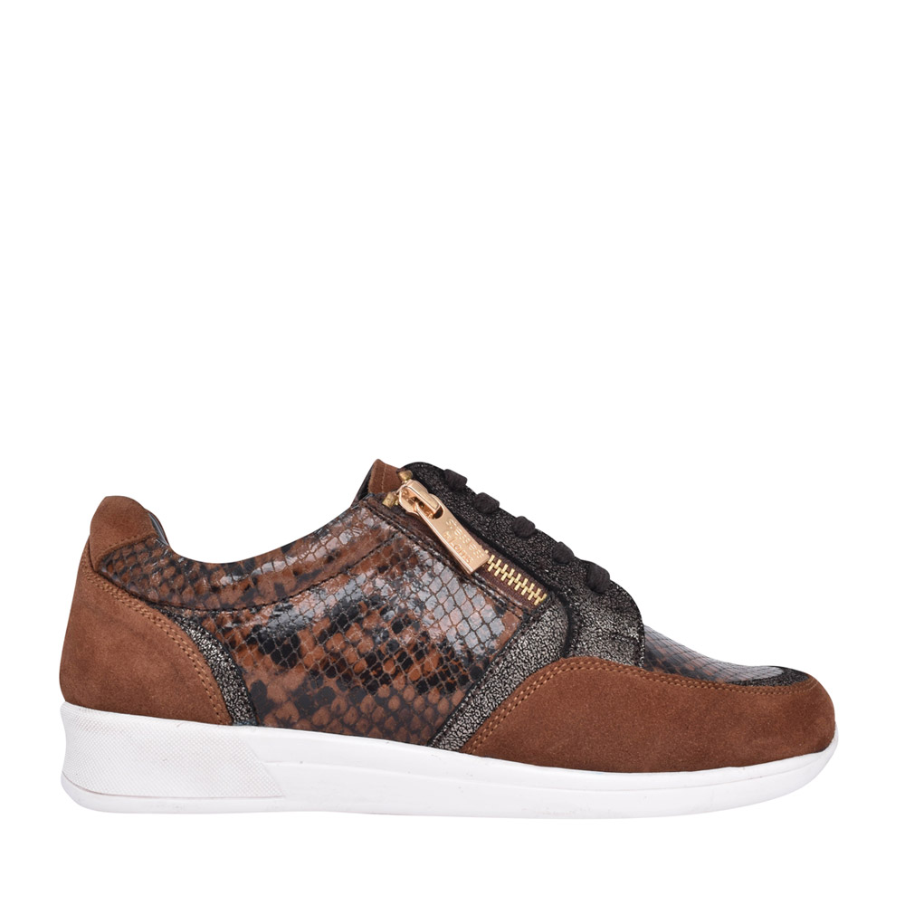 LADIES ULS129 SHERYL LACED TRAINER in TAN