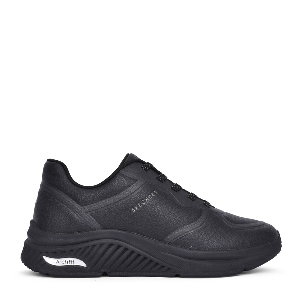 LADIES 155570 ARCH FIT S LACED TRAINER in BLACK