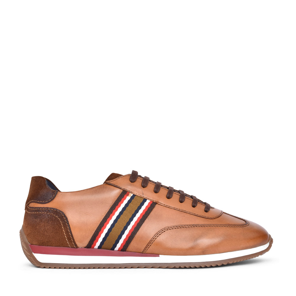 MENS MAYO VH02 LACED TRAINER in TAN