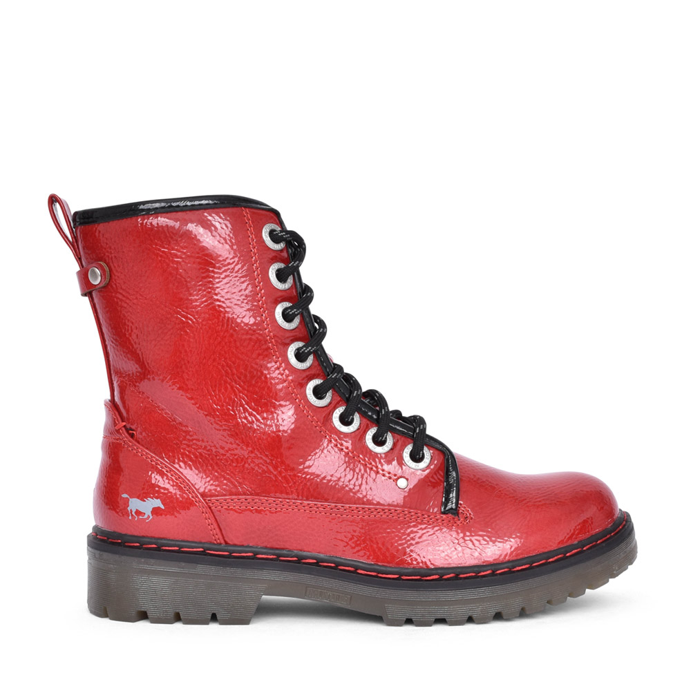 LADIES 1366508 LACED BOOT in RED
