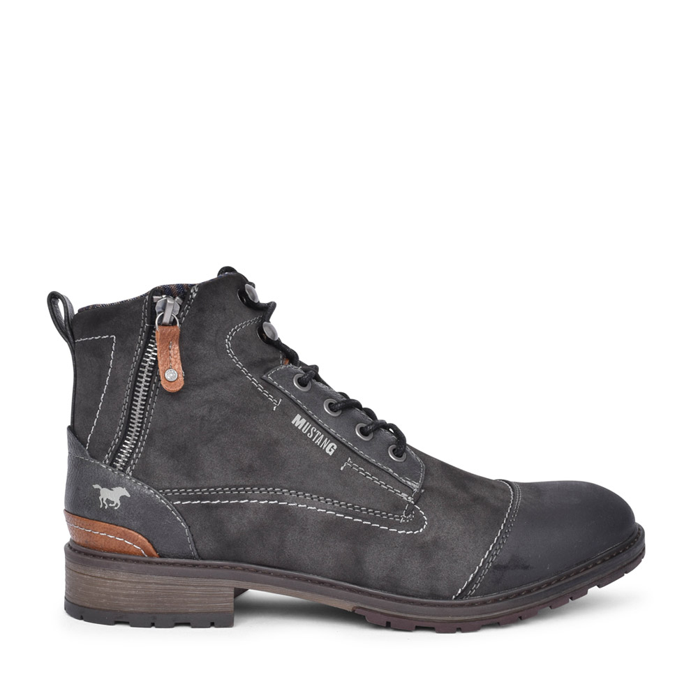 MENS 4140504 LACED BOOT in DARK GREY