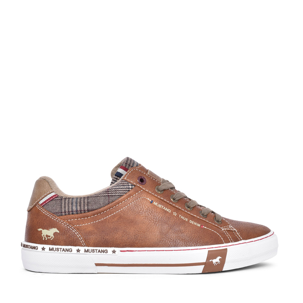 MENS 4146305 LACED TRAINER in TAN