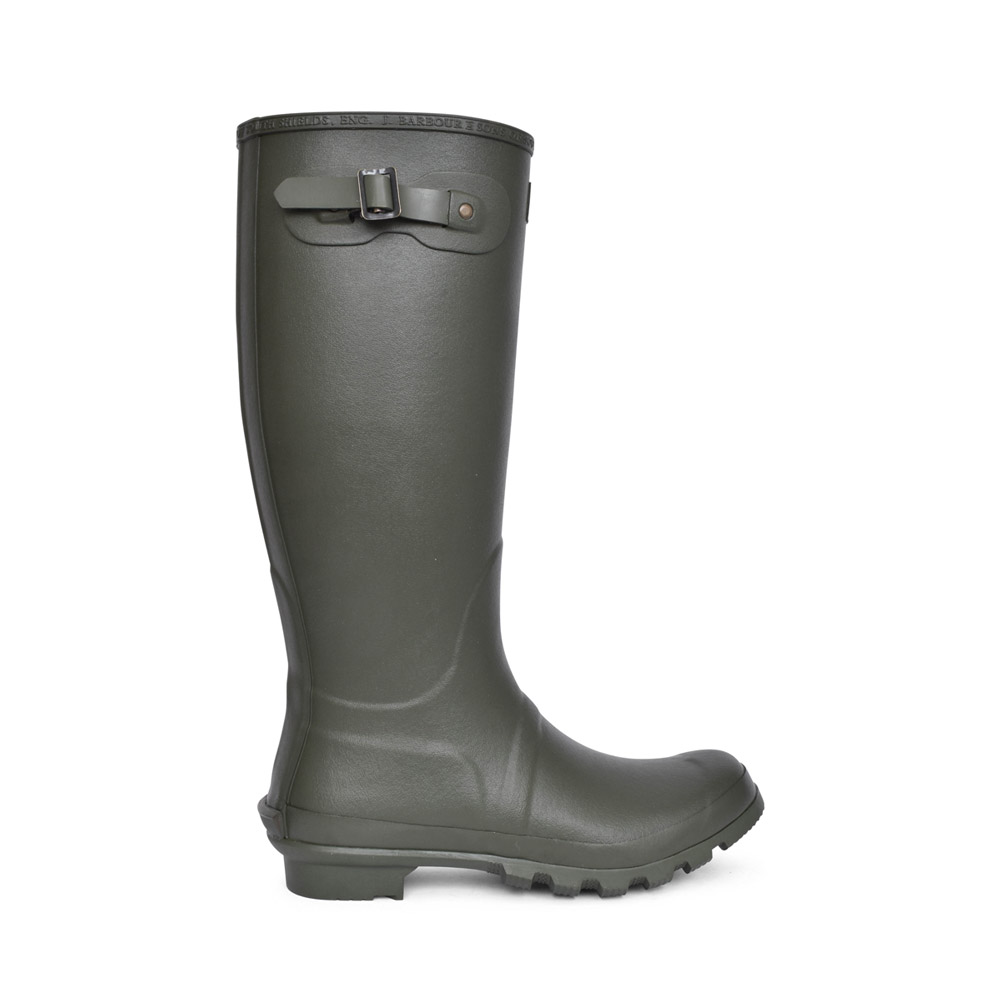 MENS BEDE TARTAN LINED WELLY BOOT in OLIVE