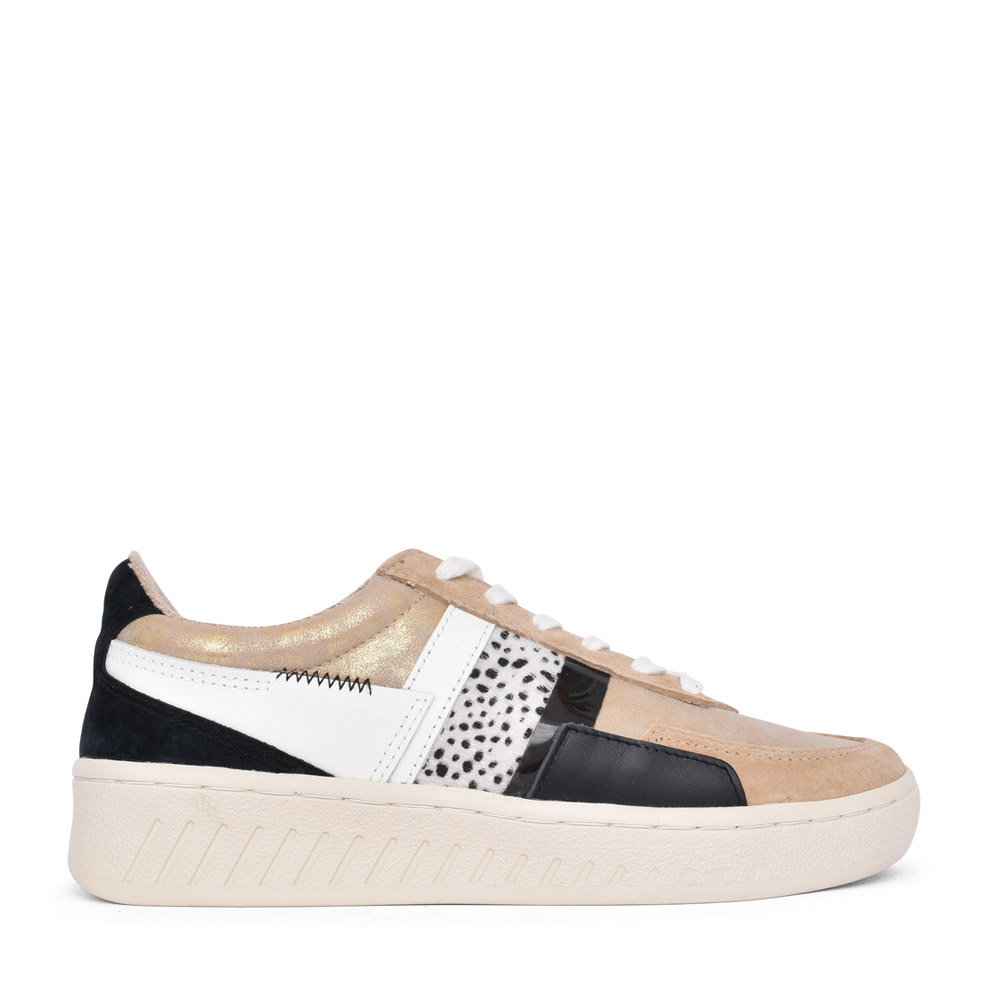 LADIES CLB218 GRANDSLAM LACED TRAINER in GOLD