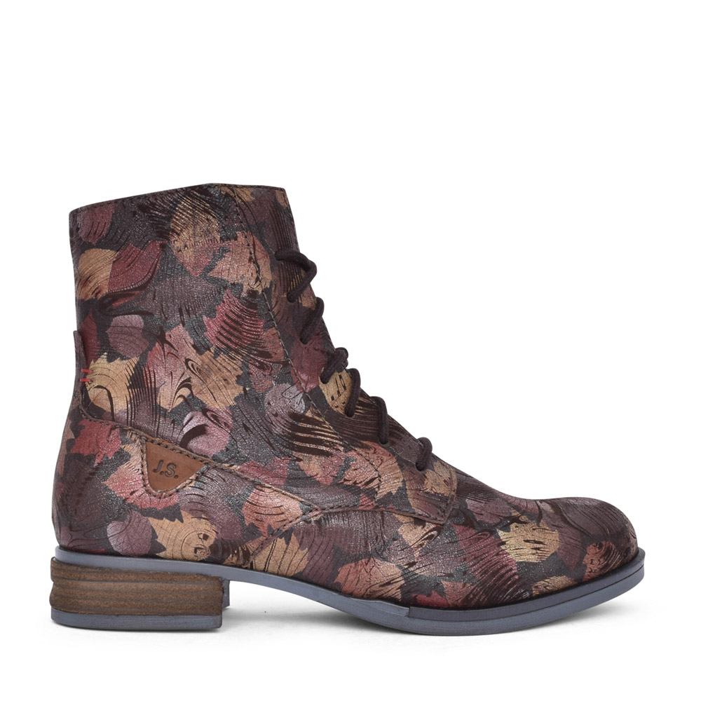 LADIES 76501 SANJA 01 LACED ANKLE BOOT in MULTI-COLOUR