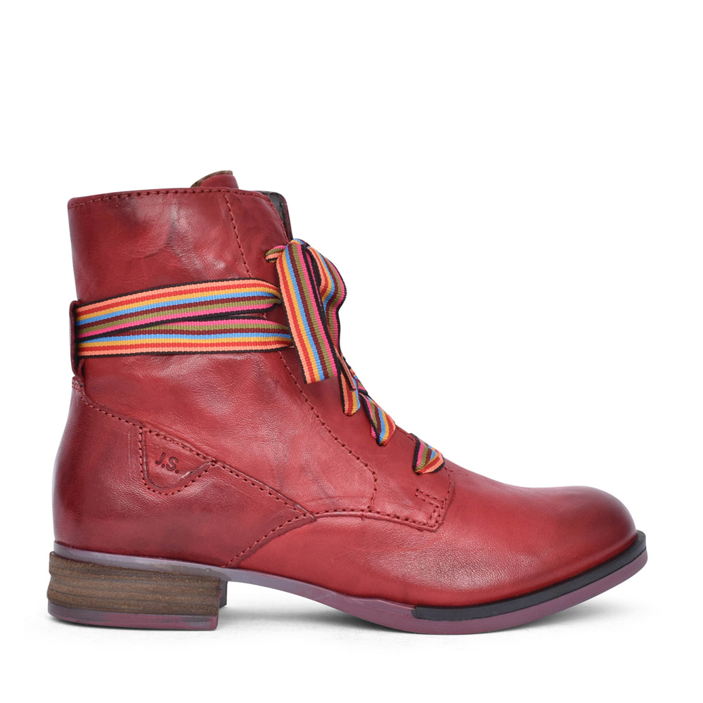 LADIES 76504 SANJA 04 LACED BOOT in RED
