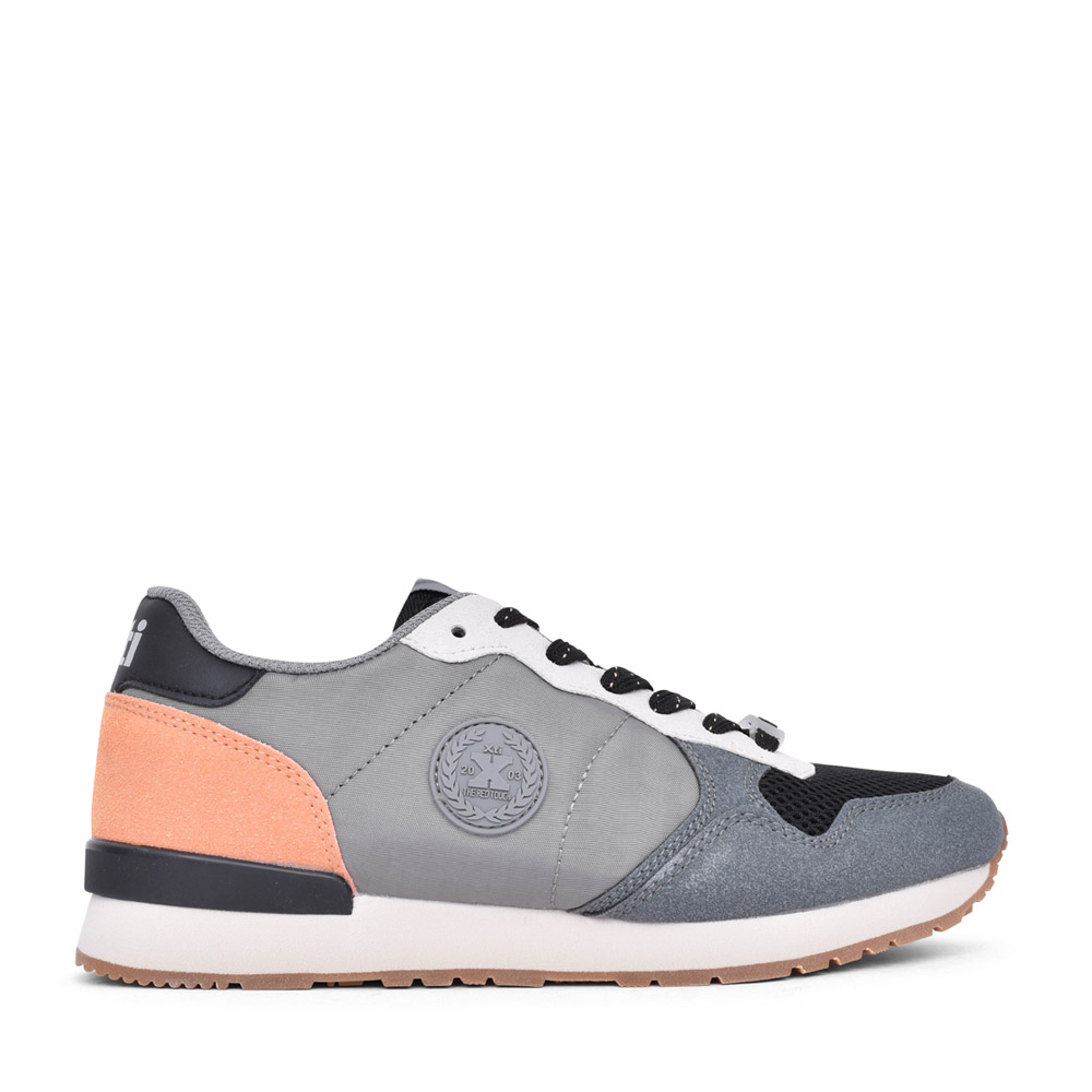 LADIES 43106 LACED TRAINER in GREY