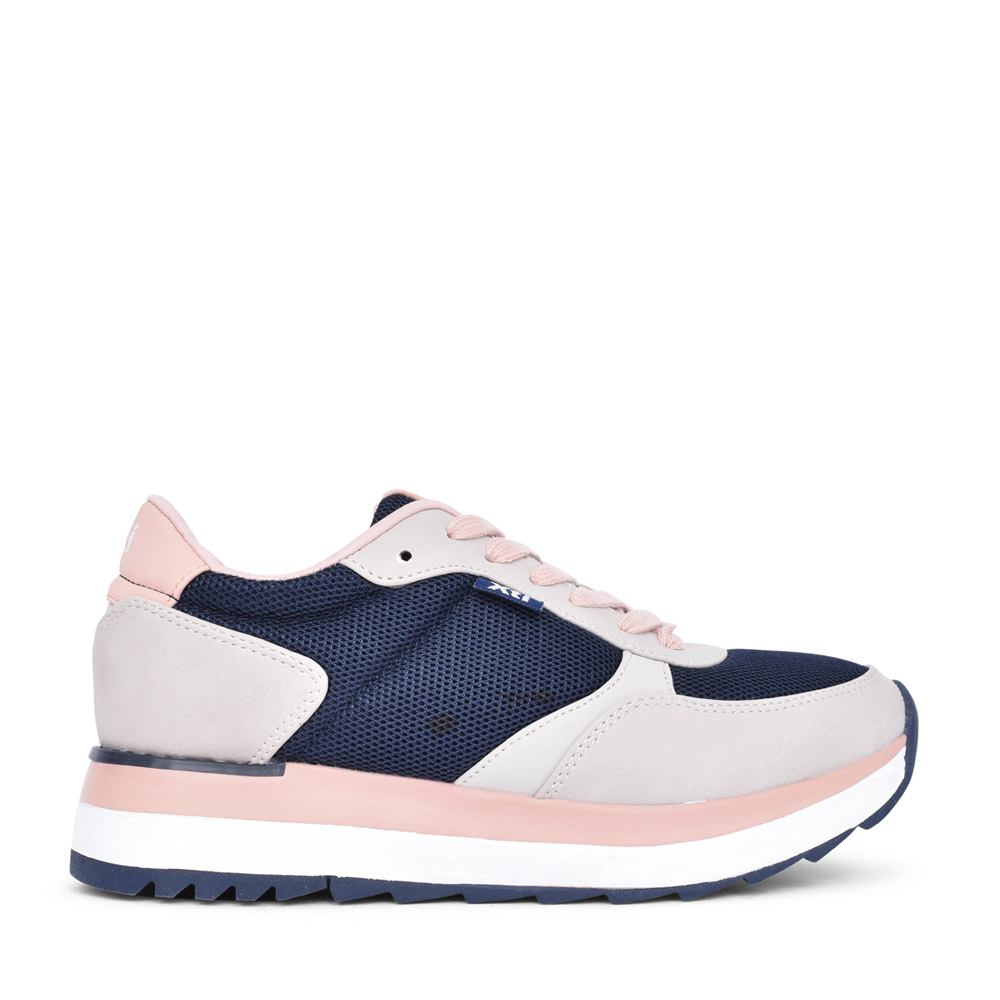 LADIES 43436 LACED TRAINER in NAVY