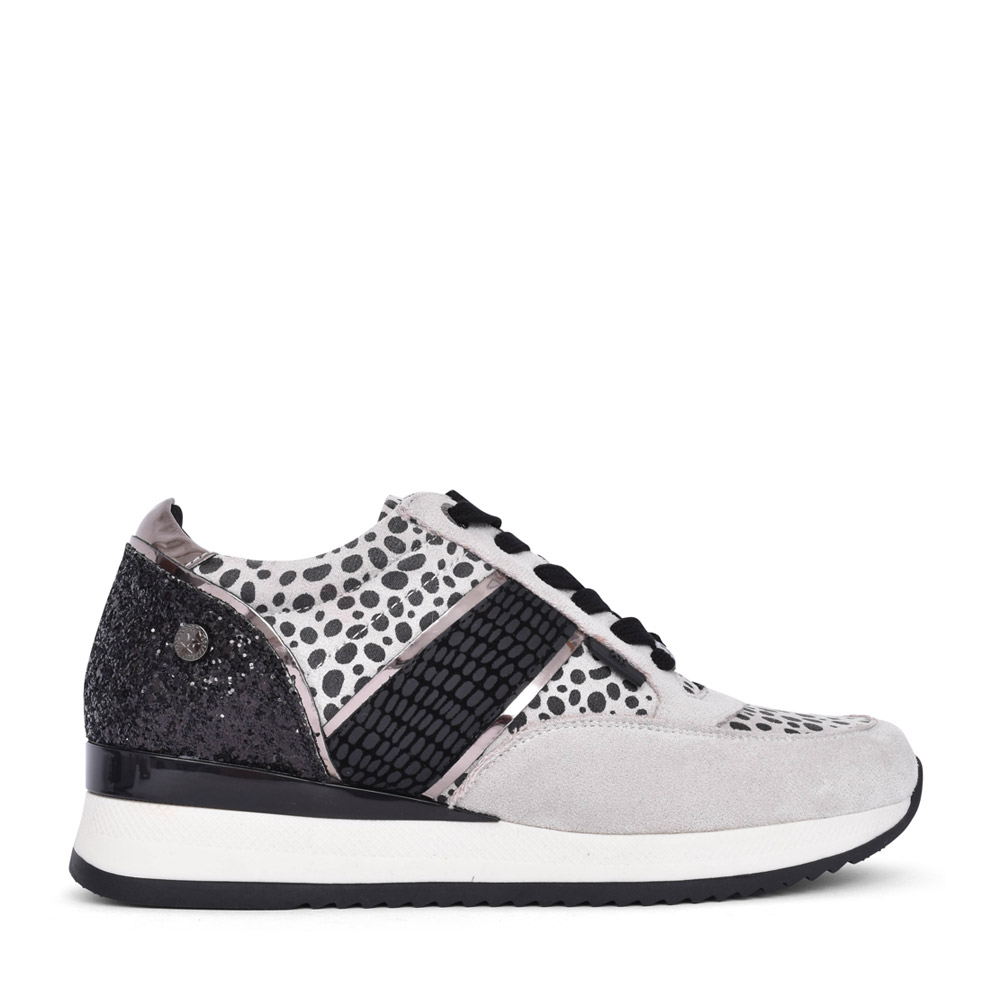 LADIES 43096 LACED TRAINER in GREY
