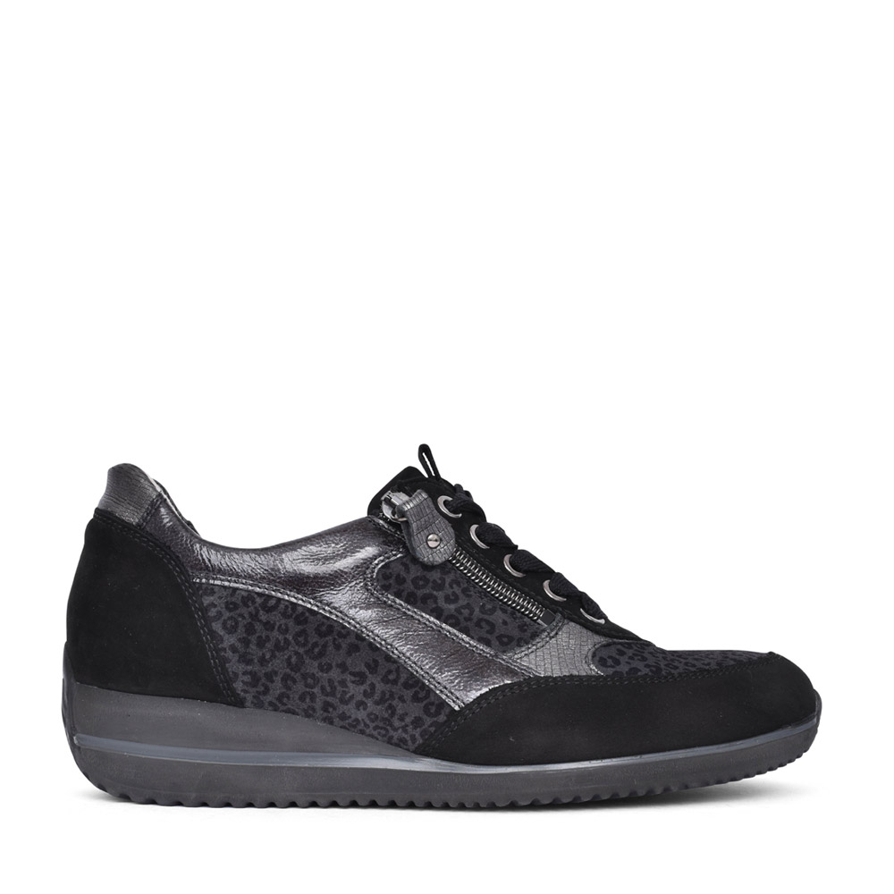 LADIES 980008 HIMONA LACED TRAINER in BLACK INTERE