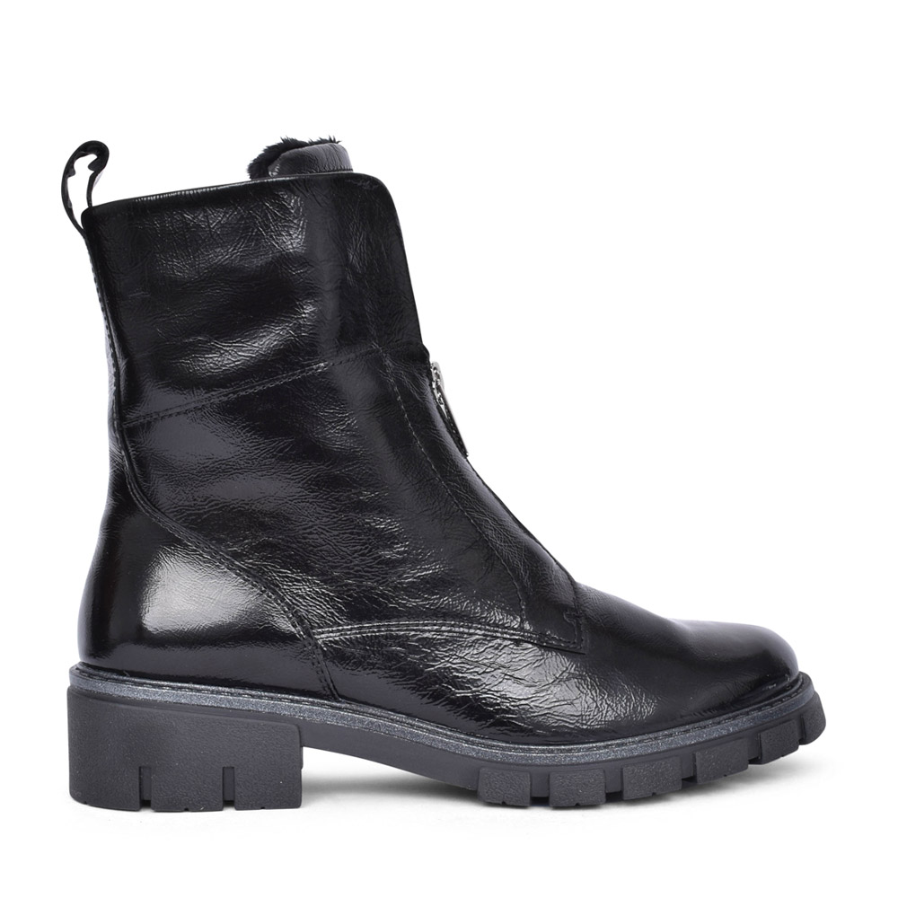 LADIES 12-23130 DOVER ANKLE BOOT in BLK PATENT