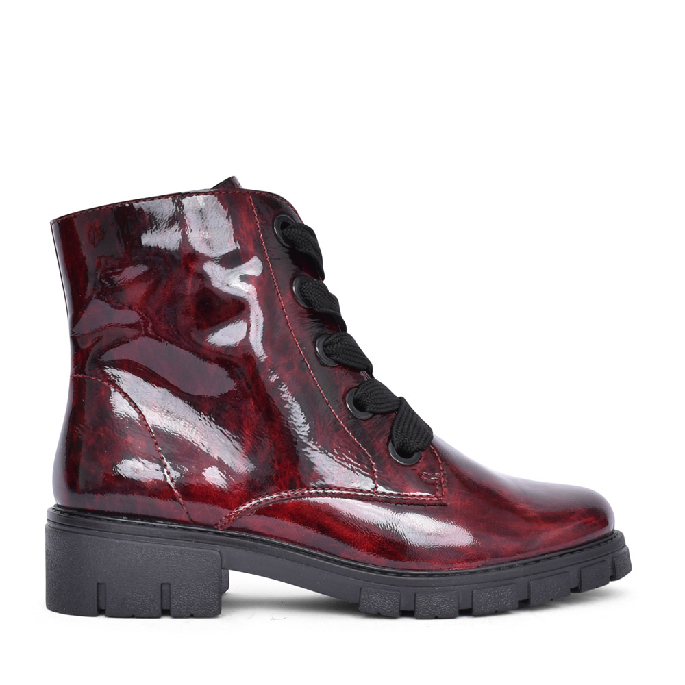 LADIES 12-23126 DOVER LACED ANKLE BOOT in BURGANDY