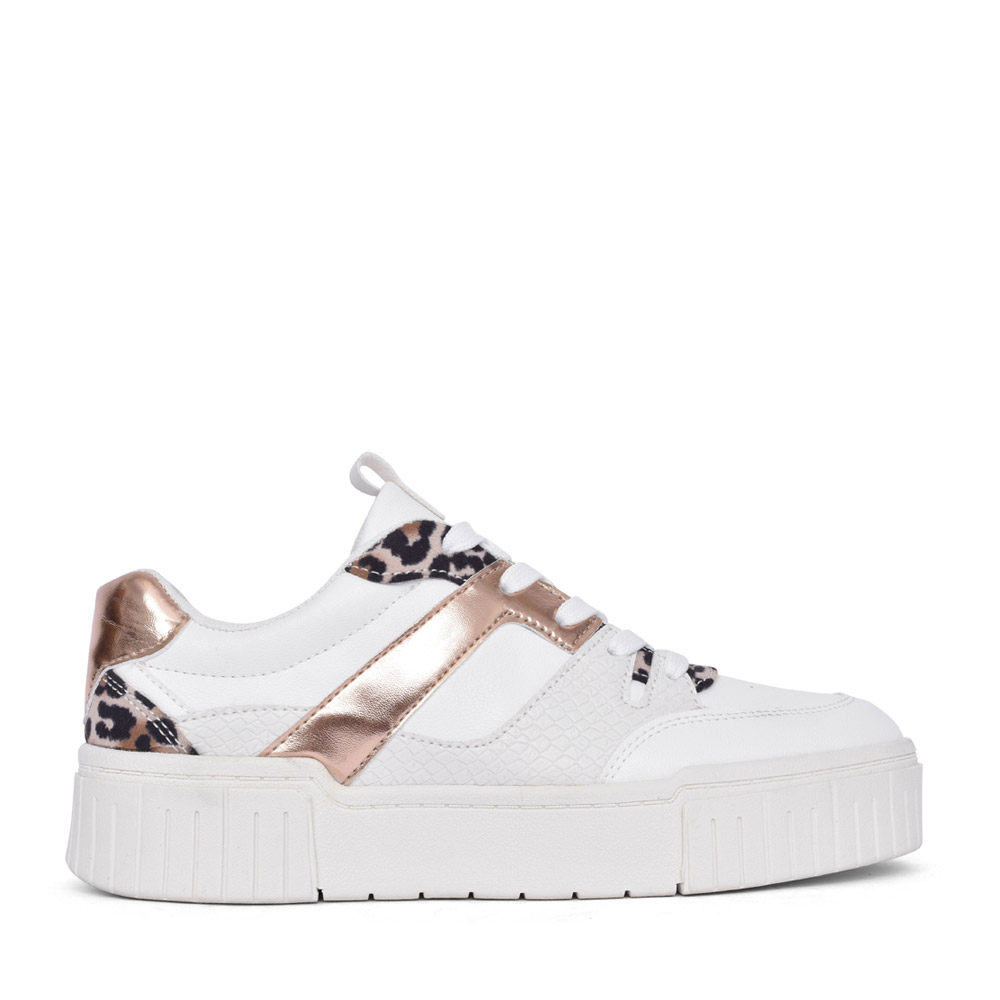 LADIES 539759 LACED TRAINER in WHITE