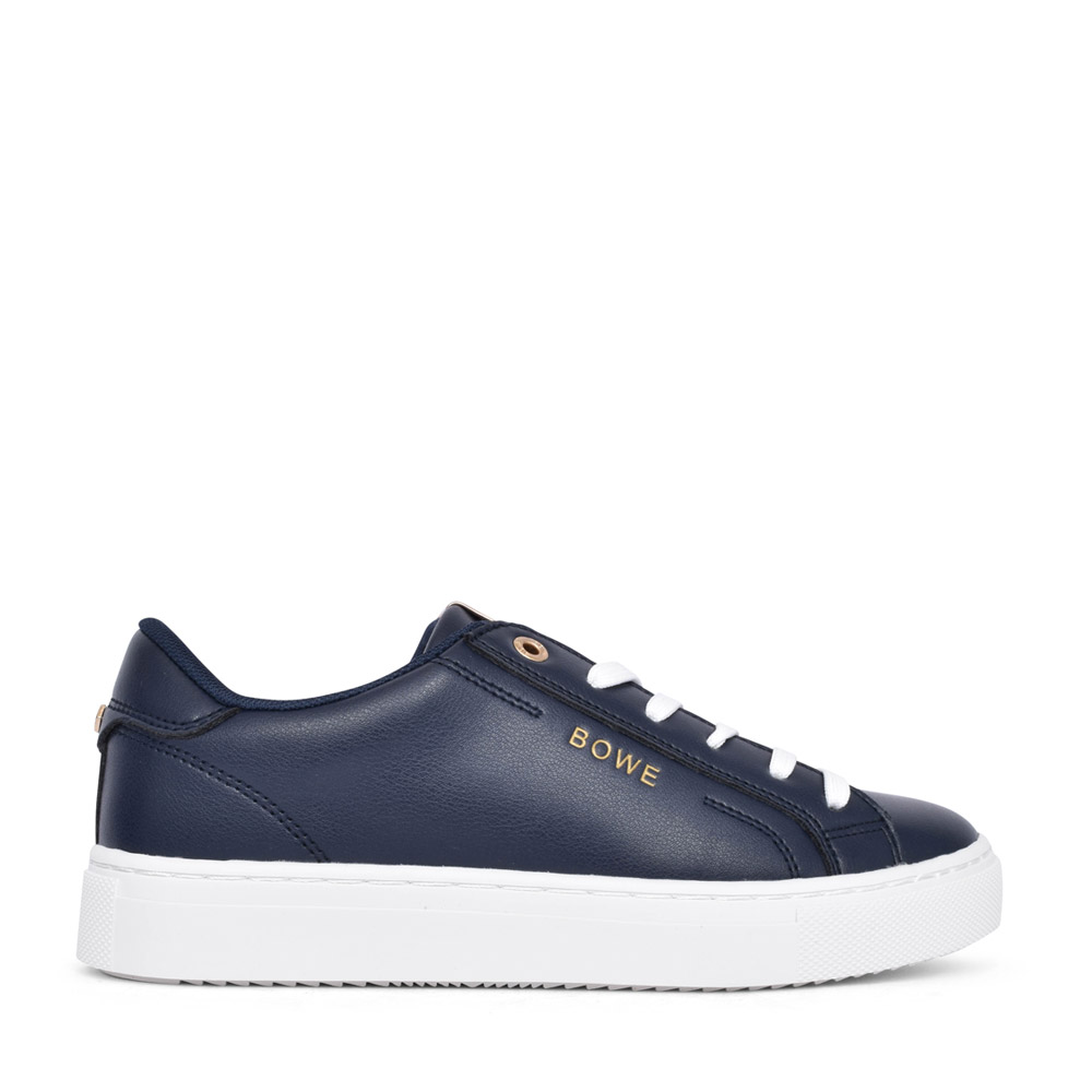 LADIES TUCKER LACED TRAINER in NAVY