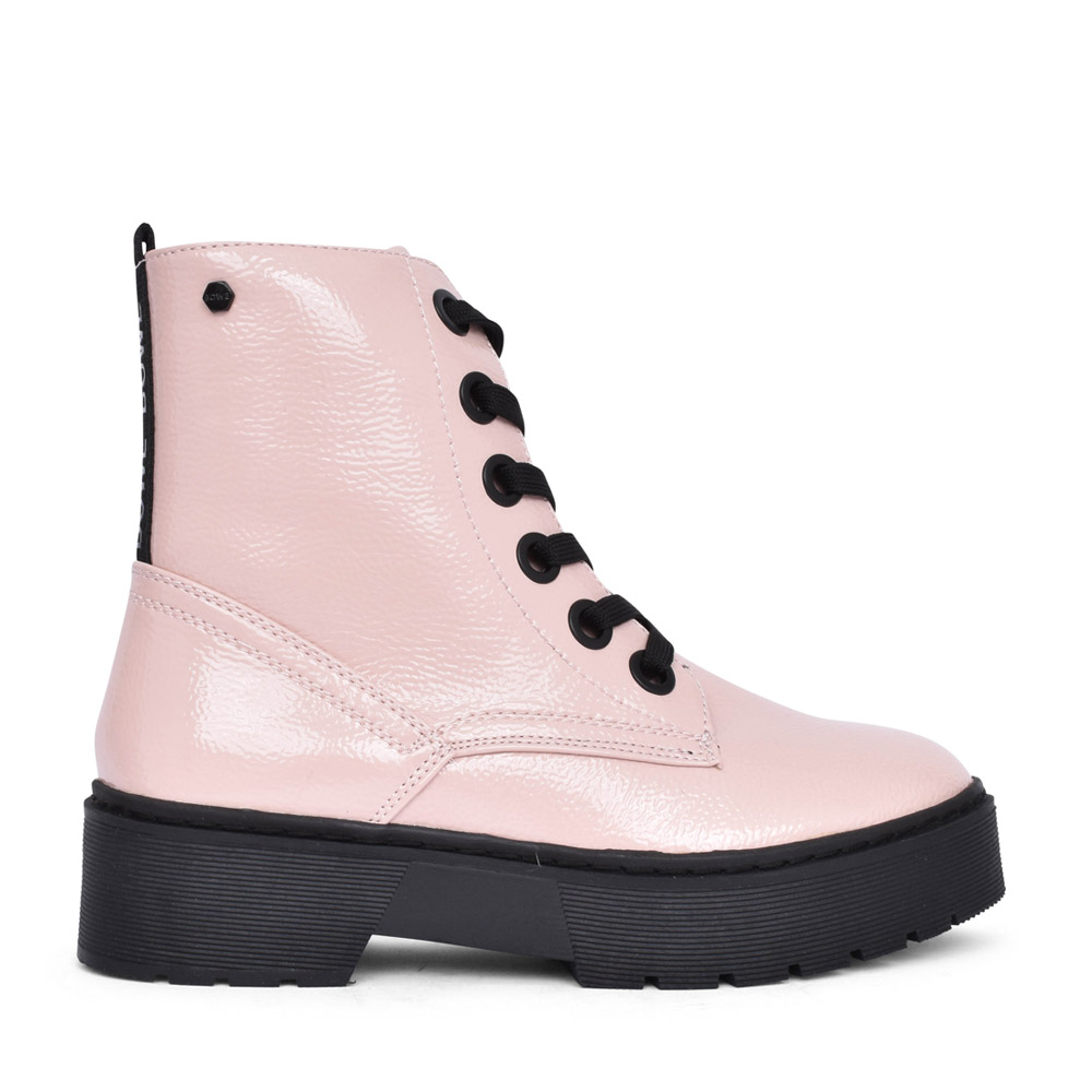 LADIES PEARSE LACED PLATFORM BOOT in PINK