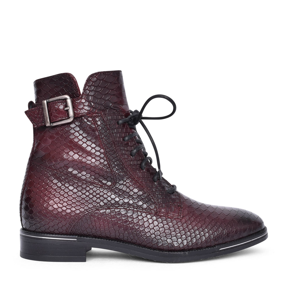 LADIES LANDY LACED BOOT in BURGANDY