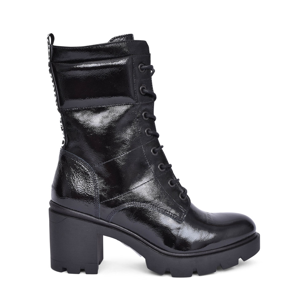LADIES 13782 LACED ANKLE BOOT in BLACK