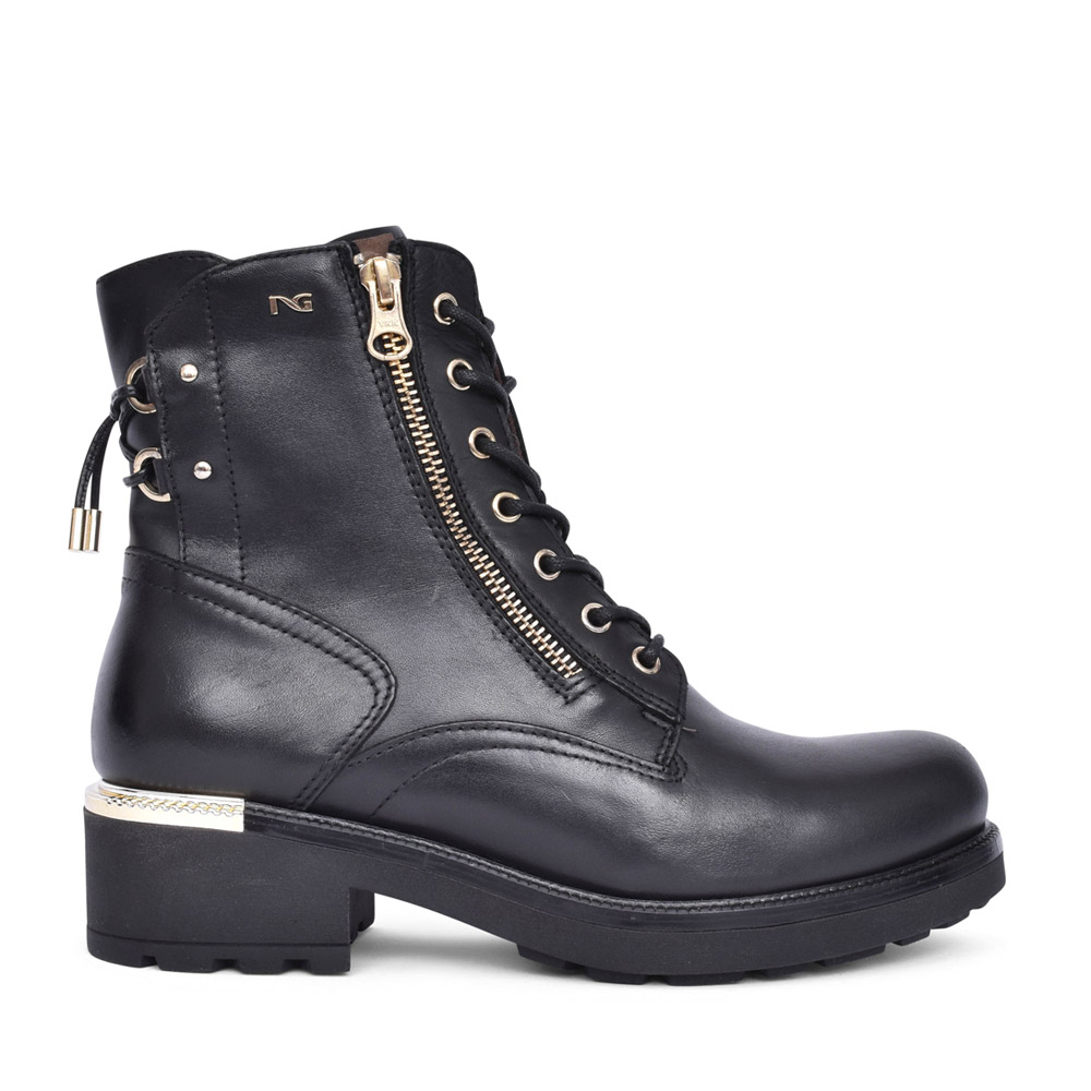 LADIES 117730 LACED ANKLE BOOT in BLACK