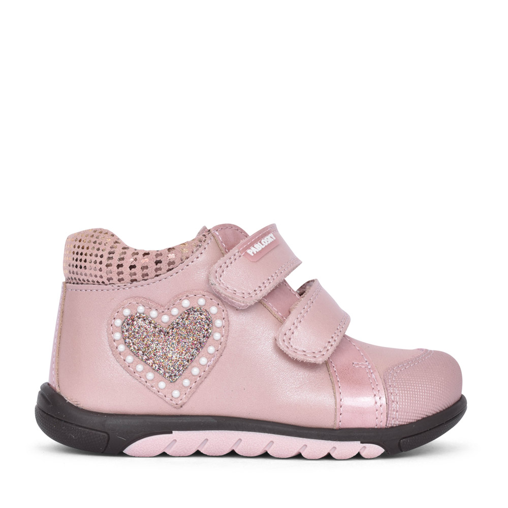 GIRLS VELCRO ANKLE BOOT in PINK