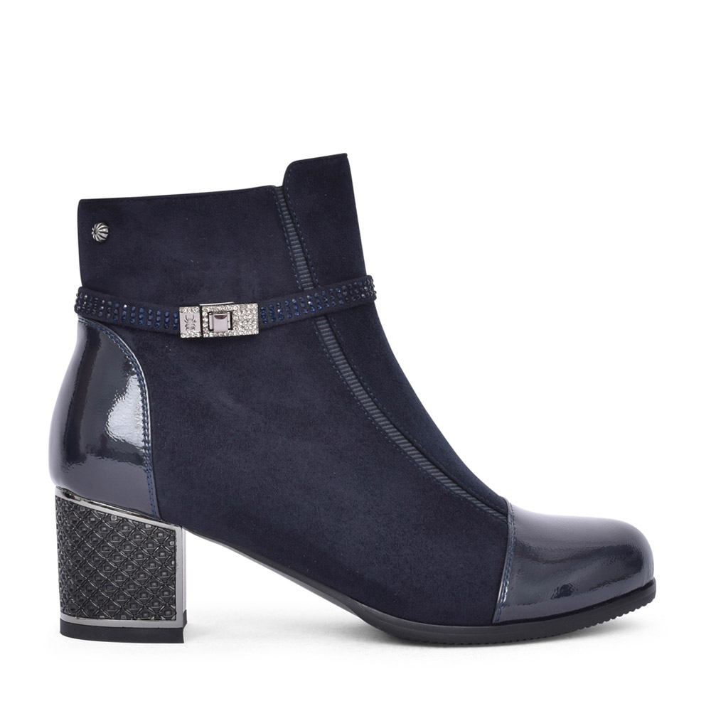 LADIES F2036A ANKLE BOOT in NAVY