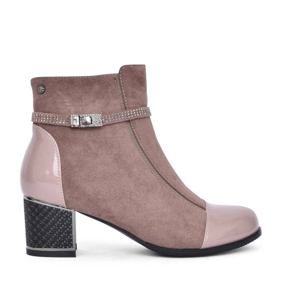 LADIES F2036A ANKLE BOOT in BEIGE