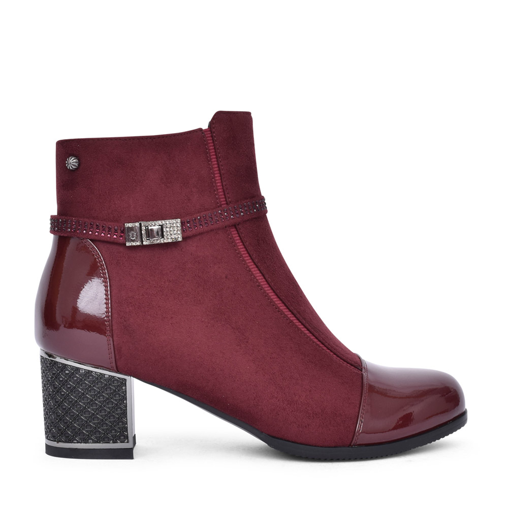 LADIES F2036A ANKLE BOOT in WINE